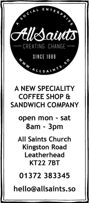 All Saints Cafe Leatherhead social enterprise