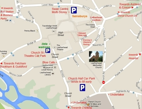 Leatherhead Town Centre Map