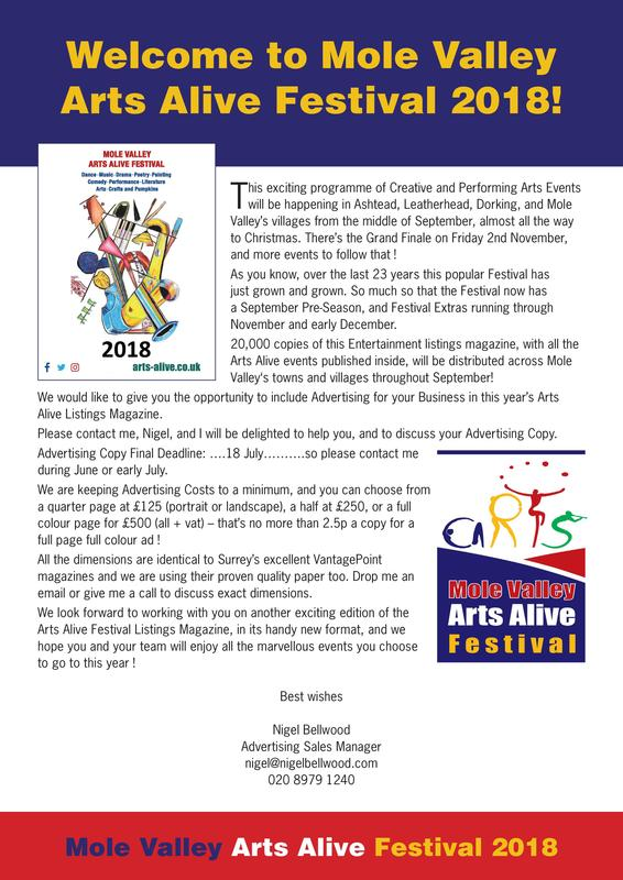 Arts Alive Festival 2018 - Music in Surrey Diary
