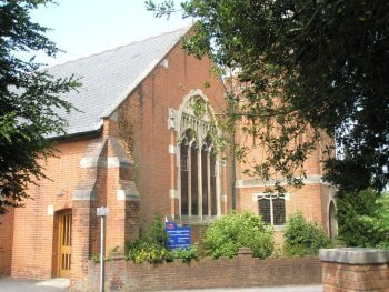 Leatherhead Methodist Church, Church Road, KT22 8AY, South Entrance,