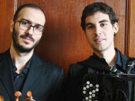 Diphonon Duo, Michael Iskas, viola, Iñigo Mikeleiz Berrade, accordion, 8th October 2020,
